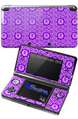 Gothic Punk Pattern Purple - Decal Style Skin fits Nintendo 3DS (3DS SOLD SEPARATELY)