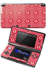 Gothic Punk Pattern Red - Decal Style Skin fits Nintendo 3DS (3DS SOLD SEPARATELY)