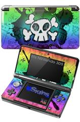 Cartoon Skull Rainbow - Decal Style Skin fits Nintendo 3DS (3DS SOLD SEPARATELY)