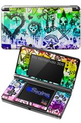 Scene Kid Sketches Rainbow - Decal Style Skin fits Nintendo 3DS (3DS SOLD SEPARATELY)