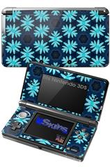 Abstract Floral Blue - Decal Style Skin fits Nintendo 3DS (3DS SOLD SEPARATELY)