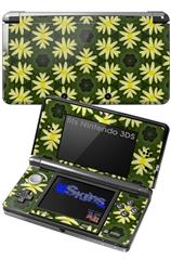 Abstract Floral Yellow - Decal Style Skin fits Nintendo 3DS (3DS SOLD SEPARATELY)