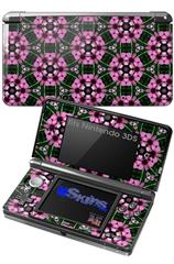 Floral Pattern Pink - Decal Style Skin fits Nintendo 3DS (3DS SOLD SEPARATELY)