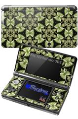 Leave Pattern 1 Green - Decal Style Skin fits Nintendo 3DS (3DS SOLD SEPARATELY)