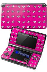 Paper Planes Hot Pink - Decal Style Skin fits Nintendo 3DS (3DS SOLD SEPARATELY)