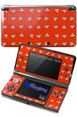 Paper Planes Red - Decal Style Skin fits Nintendo 3DS (3DS SOLD SEPARATELY)