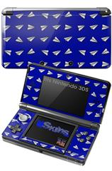 Paper Planes Royal Blue - Decal Style Skin fits Nintendo 3DS (3DS SOLD SEPARATELY)