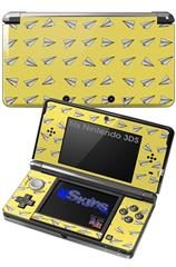 Paper Planes Yellow - Decal Style Skin fits Nintendo 3DS (3DS SOLD SEPARATELY)