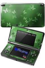 Bokeh Butterflies Green - Decal Style Skin fits Nintendo 3DS (3DS SOLD SEPARATELY)
