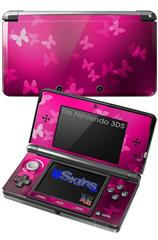 Bokeh Butterflies Hot Pink - Decal Style Skin fits Nintendo 3DS (3DS SOLD SEPARATELY)