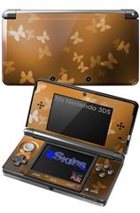 Bokeh Butterflies Orange - Decal Style Skin fits Nintendo 3DS (3DS SOLD SEPARATELY)