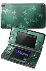 Bokeh Butterflies Seafoam Green - Decal Style Skin fits Nintendo 3DS (3DS SOLD SEPARATELY)