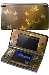 Bokeh Butterflies Yellow - Decal Style Skin fits Nintendo 3DS (3DS SOLD SEPARATELY)