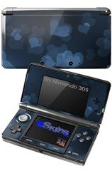 Bokeh Hearts Blue - Decal Style Skin fits Nintendo 3DS (3DS SOLD SEPARATELY)