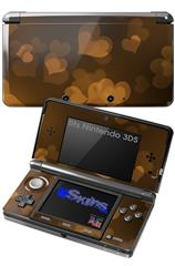 Bokeh Hearts Orange - Decal Style Skin fits Nintendo 3DS (3DS SOLD SEPARATELY)