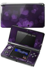 Bokeh Hearts Purple - Decal Style Skin fits Nintendo 3DS (3DS SOLD SEPARATELY)