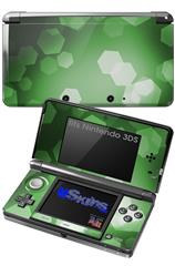 Bokeh Hex Green - Decal Style Skin fits Nintendo 3DS (3DS SOLD SEPARATELY)