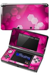 Bokeh Hex Hot Pink - Decal Style Skin fits Nintendo 3DS (3DS SOLD SEPARATELY)
