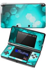 Bokeh Hex Neon Teal - Decal Style Skin fits Nintendo 3DS (3DS SOLD SEPARATELY)