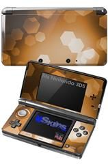Bokeh Hex Orange - Decal Style Skin fits Nintendo 3DS (3DS SOLD SEPARATELY)