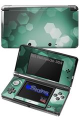 Bokeh Hex Seafoam Green - Decal Style Skin fits Nintendo 3DS (3DS SOLD SEPARATELY)