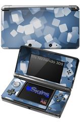 Bokeh Squared Blue - Decal Style Skin fits Nintendo 3DS (3DS SOLD SEPARATELY)