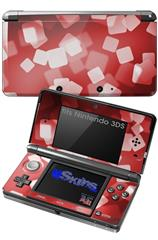 Bokeh Squared Red - Decal Style Skin fits Nintendo 3DS (3DS SOLD SEPARATELY)