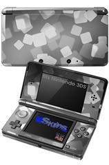Bokeh Squared Grey - Decal Style Skin fits Nintendo 3DS (3DS SOLD SEPARATELY)