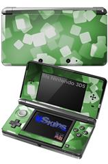 Bokeh Squared Green - Decal Style Skin fits Nintendo 3DS (3DS SOLD SEPARATELY)