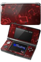 Bokeh Music Red - Decal Style Skin fits Nintendo 3DS (3DS SOLD SEPARATELY)