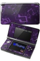 Bokeh Music Purple - Decal Style Skin fits Nintendo 3DS (3DS SOLD SEPARATELY)