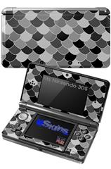 Scales Black - Decal Style Skin fits Nintendo 3DS (3DS SOLD SEPARATELY)