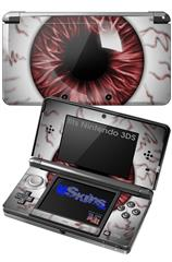 Eyeball Red - Decal Style Skin fits Nintendo 3DS (3DS SOLD SEPARATELY)