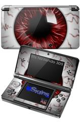 Eyeball Red Dark - Decal Style Skin fits Nintendo 3DS (3DS SOLD SEPARATELY)