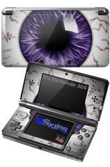 Eyeball Purple - Decal Style Skin fits Nintendo 3DS (3DS SOLD SEPARATELY)