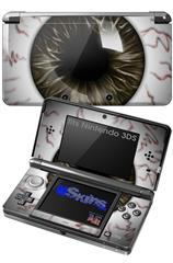 Eyeball Brown - Decal Style Skin fits Nintendo 3DS (3DS SOLD SEPARATELY)