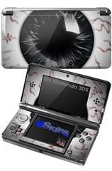 Eyeball Black - Decal Style Skin fits Nintendo 3DS (3DS SOLD SEPARATELY)