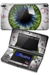 Eyeball Blue Green - Decal Style Skin fits Nintendo 3DS (3DS SOLD SEPARATELY)