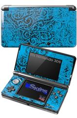 Folder Doodles Blue Medium - Decal Style Skin fits Nintendo 3DS (3DS SOLD SEPARATELY)