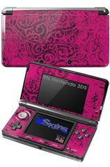Folder Doodles Fuchsia - Decal Style Skin fits Nintendo 3DS (3DS SOLD SEPARATELY)