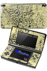 Folder Doodles Yellow Sunshine - Decal Style Skin fits Nintendo 3DS (3DS SOLD SEPARATELY)