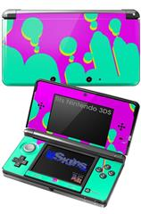Drip Teal Pink Yellow - Decal Style Skin fits Nintendo 3DS (3DS SOLD SEPARATELY)