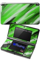 Paint Blend Green - Decal Style Skin fits Nintendo 3DS (3DS SOLD SEPARATELY)