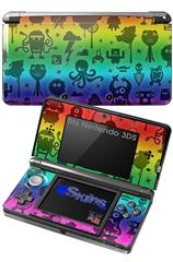 Cute Rainbow Monsters - Decal Style Skin fits Nintendo 3DS (3DS SOLD SEPARATELY)