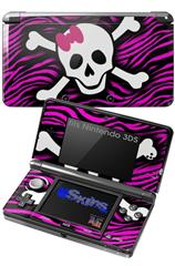 Pink Zebra Skull - Decal Style Skin fits Nintendo 3DS (3DS SOLD SEPARATELY)