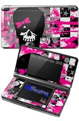 Scene Girl Skull - Decal Style Skin fits Nintendo 3DS (3DS SOLD SEPARATELY)