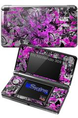 Butterfly Graffiti - Decal Style Skin fits Nintendo 3DS (3DS SOLD SEPARATELY)