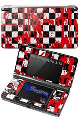 Checkerboard Splatter - Decal Style Skin fits Nintendo 3DS (3DS SOLD SEPARATELY)