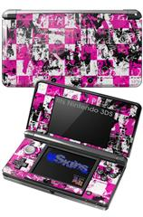 Pink Graffiti - Decal Style Skin fits Nintendo 3DS (3DS SOLD SEPARATELY)