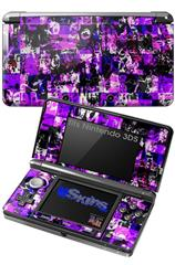 Purple Graffiti - Decal Style Skin fits Nintendo 3DS (3DS SOLD SEPARATELY)